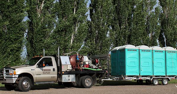 Portable Sanitation Services : Portable toilet brooks sanitation service hand wash unit